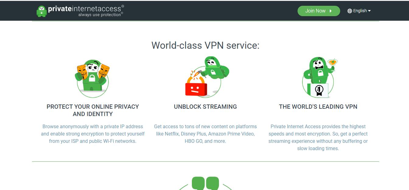 World-class VPN service