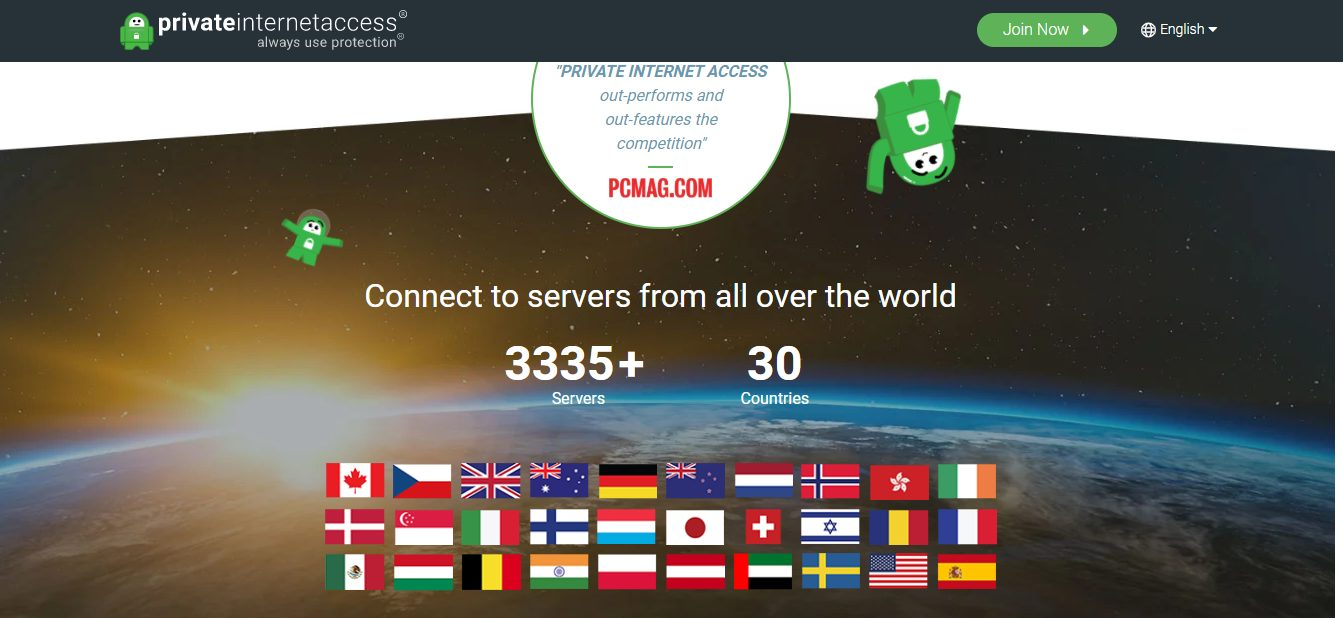 Connect to servers from all over the world