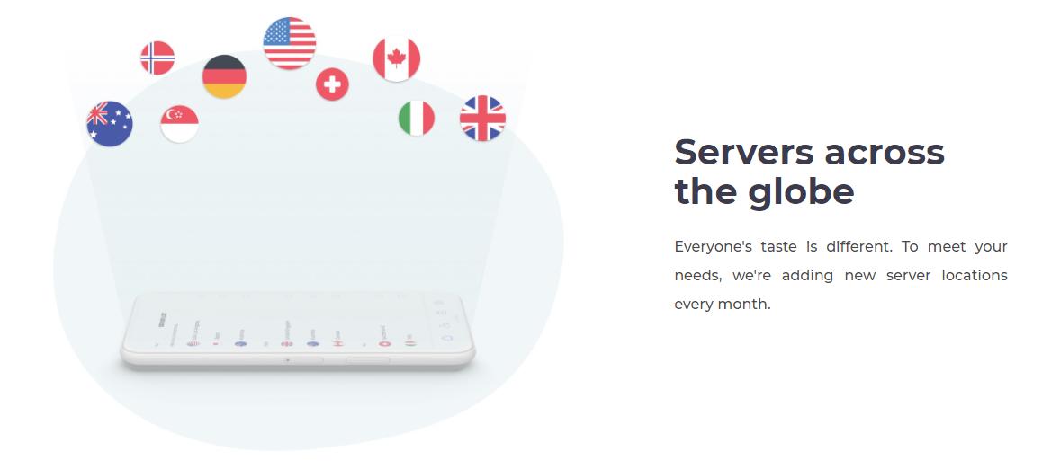 Servers across the globe